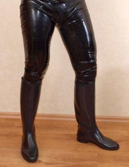 Reitstiefel, Gummistiefel, Stiefel fürs Latex Outfit de Gr